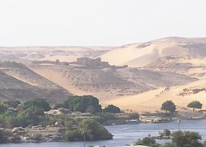 road to the monastery in Aswan