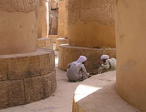 guards in the Karnak temple in Luxor