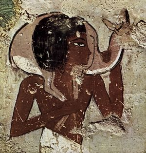 man with gazelle menna tomb