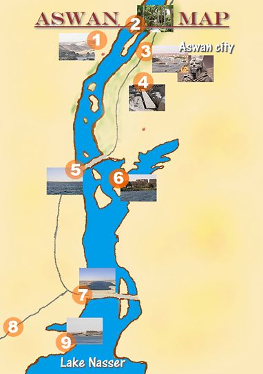 map of Aswan