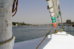 felucca view on aswan