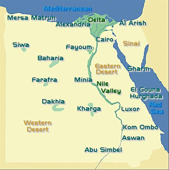 Full Map Over Egypt - Map of egypt detailed